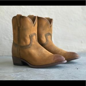 Frye distressed western billy ankle boots